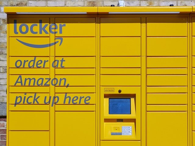 Amazon locker on the  street