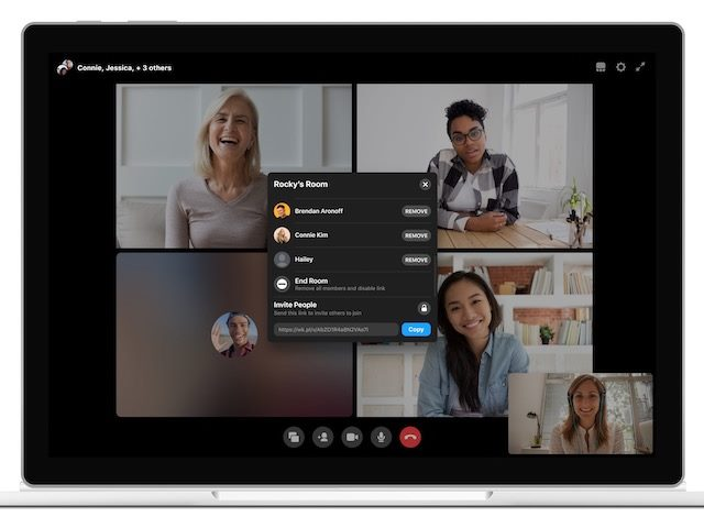 screenshot of Workplace from Facebook's new Rooms video feature