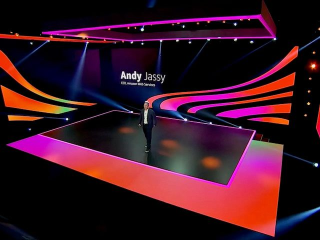 AWS  CEO Andy Jassy takes the (virtual) stage during AWS's online re:Invent  2020