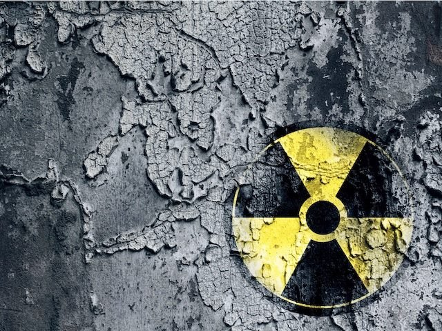 well-worn  radioactive sign