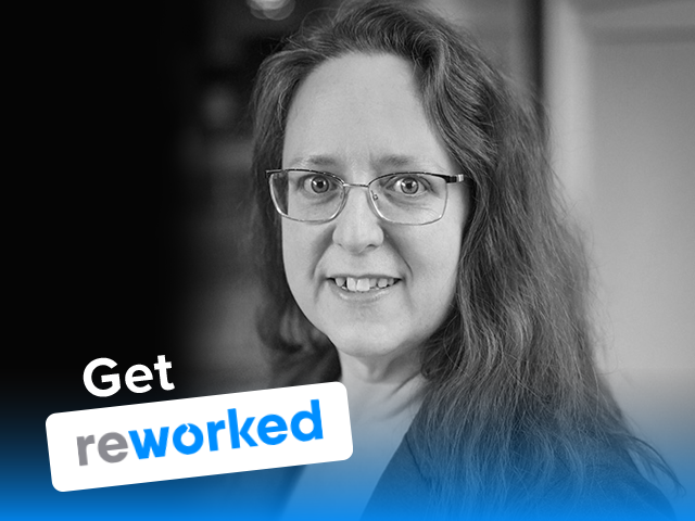 Get Reworked Podcast Guest Sarah Kimmel Vice President of Research Simpler Media Group