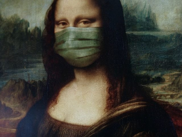 Mona Lisa with a mask on