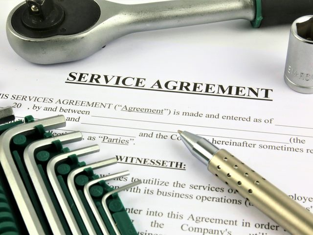 A concept Image of a service agreement.
